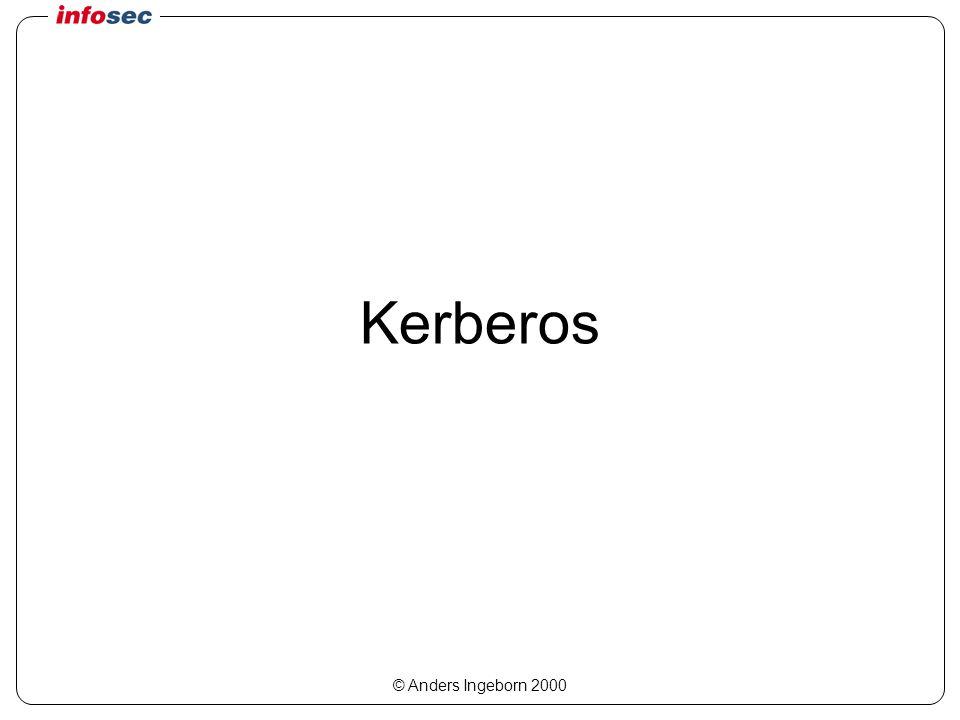 © Anders Ingeborn 2000 Kerberos