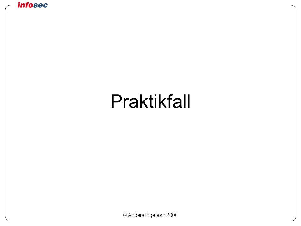 © Anders Ingeborn 2000 Praktikfall