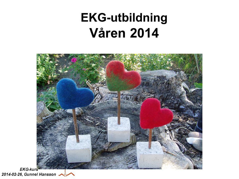 EKG-kurs 2014-02-26, Gunnel Hansson KLINISK FYSIOLOGI Figur 9:18 P = förmaks-depol QRS = kammar-depol T = kammar-repol PQ = baslinje