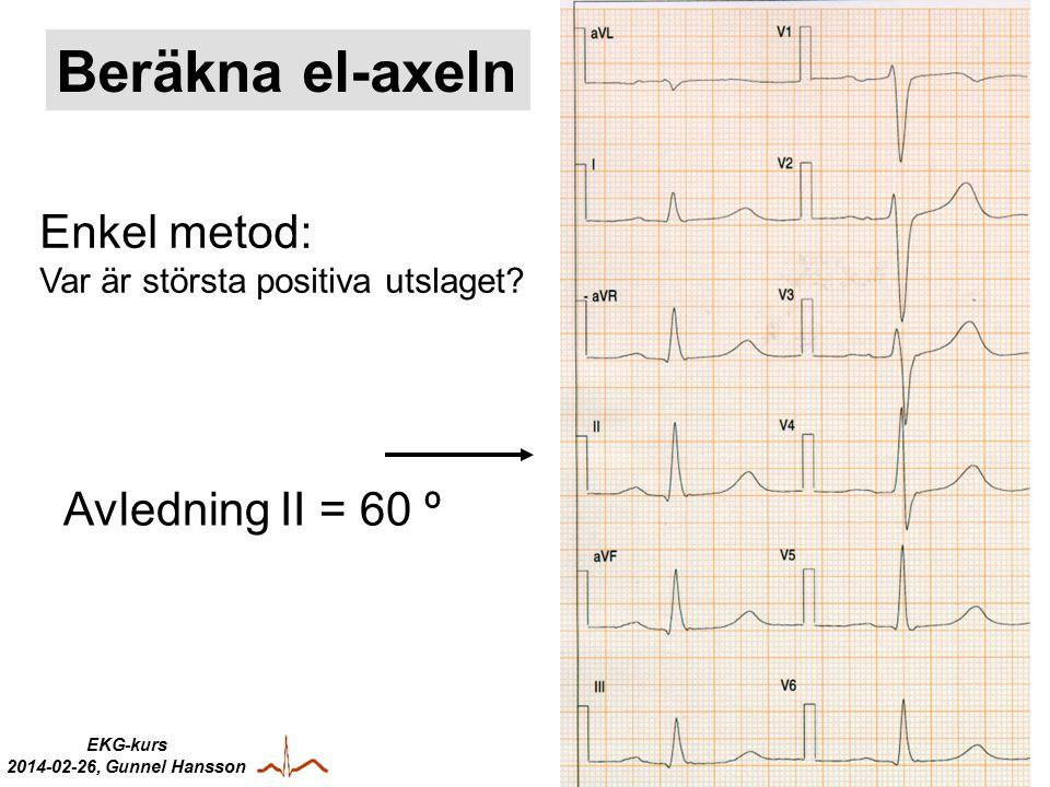 EKG-kurs 2014-02-26, Gunnel Hansson Enkel metod: Var är största positiva utslaget.