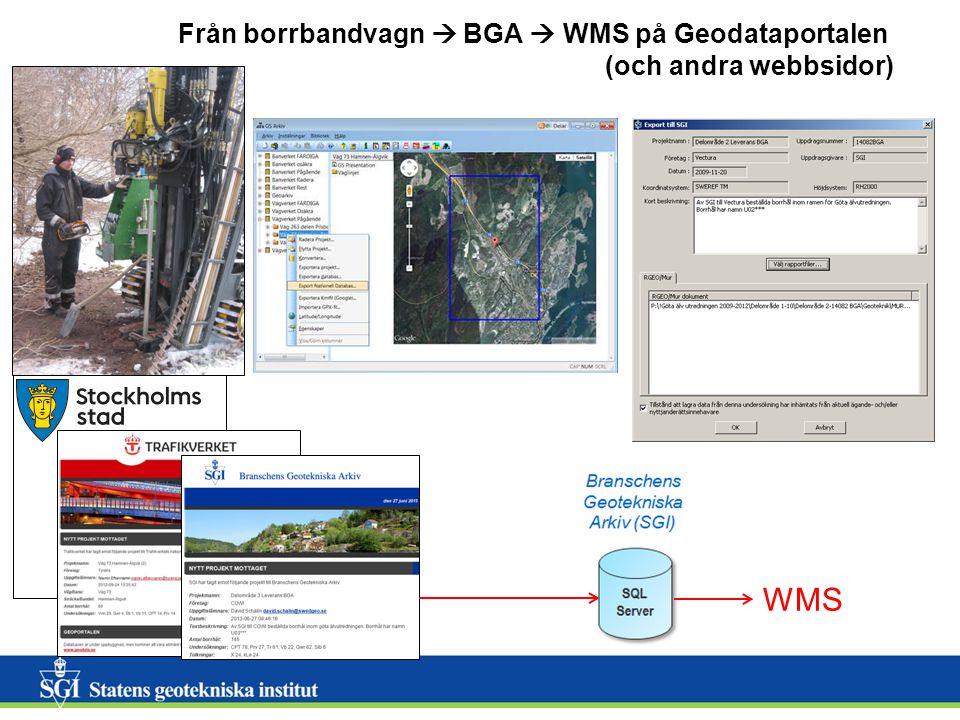 6 6 Visning av individuella borrhål från Branschens Geotekniska Arkiv (BGA) Det finns tydliga instruktioner för: Nedladdning av Geosuite borrhål Uppladdning av Geosuite borrhål