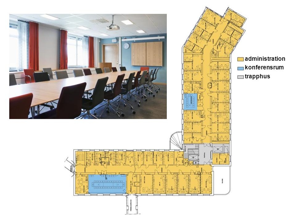administration konferensrum trapphus