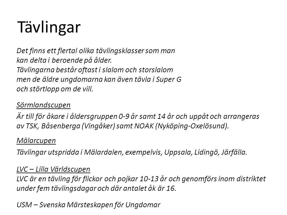 Tävlingar Sörmlandscupen Är till för åkare i åldersgruppen 0-9 år samt 14 år och uppåt och arrangeras av TSK, Båsenberga (Vingåker) samt NOAK (Nyköping-Oxelösund).