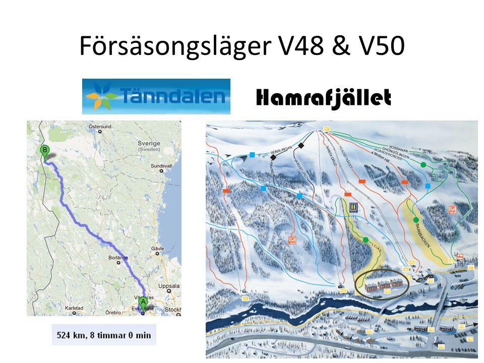 Försäsongsläger V48 & V50 Hamrafjället