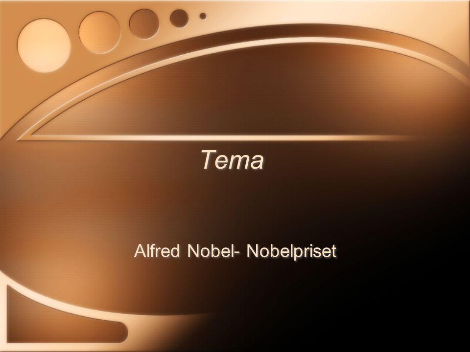 Föddes 1833 i Stockholm Alfred Nobel