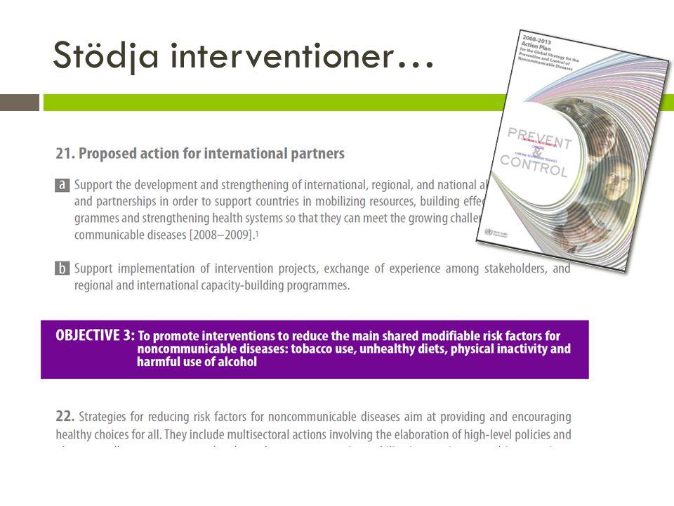 Stödja interventioner…