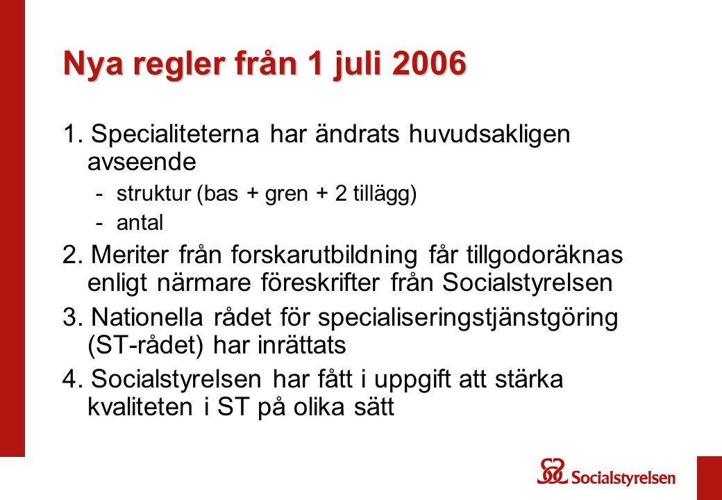 Nya regler från 1 juli 2006 1.
