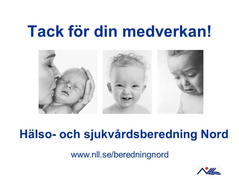 Tack för din medverkan! Hälso- och sjukvårdsberedning Nord www.nll.se/beredningnord