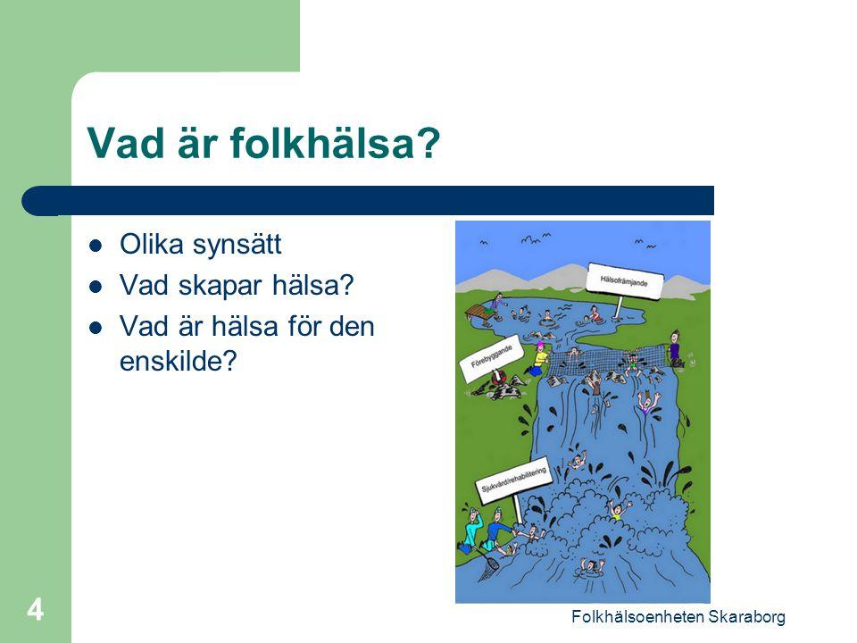Folkhälsoenheten Skaraborg 5 Begrepp Hälsofrämjande Insatser för att stärka eller bibehålla människors fysiska, psykiska och sociala välbefinnande.