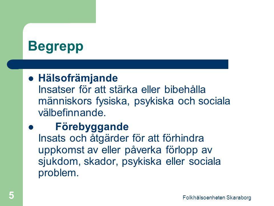 Folkhälsoenheten Skaraborg 6 Vad bestämmer hälsan .