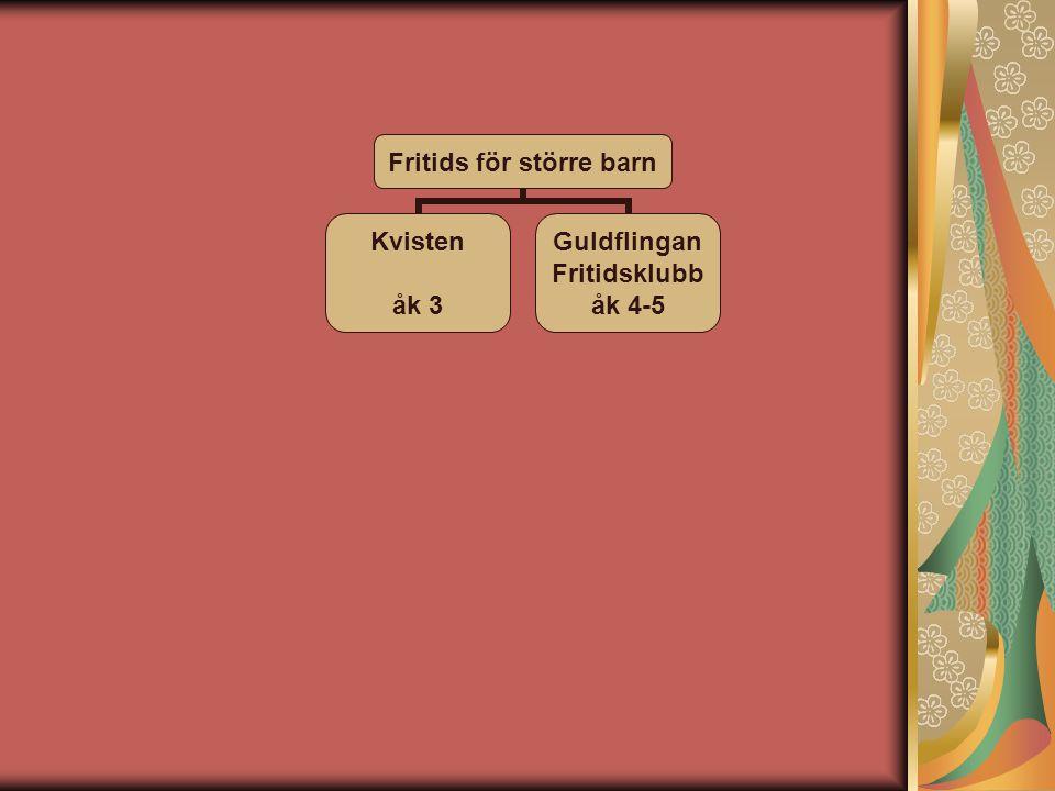 Fritids för större barn Kvisten åk 3 Guldflingan Fritidsklubb åk 4-5