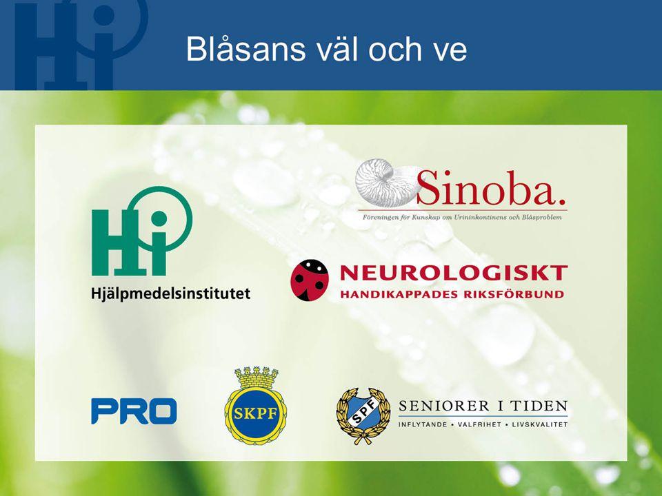 Regeringsuppdrag  Teknik för äldre  100 projekt  HI samordnare  Blåsans väl och ve  Blåsans väl och ve är ett unikt projekt som använder dagens teknik för att nå ut med kännedom och kunskap om inkontinens till målgruppen.