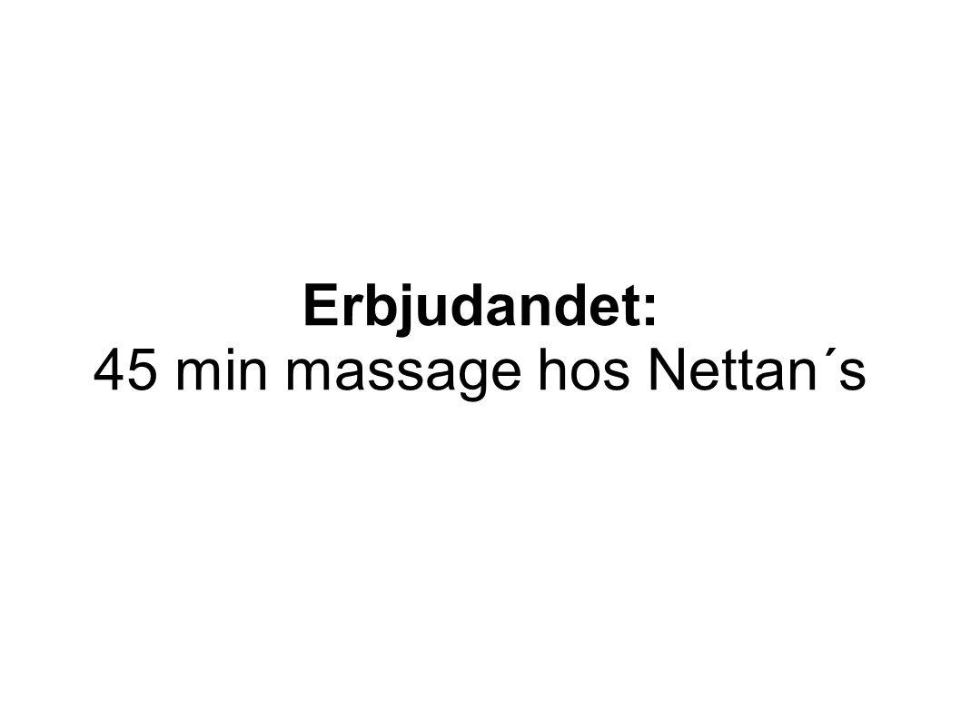 Erbjudandet: 45 min massage hos Nettan´s