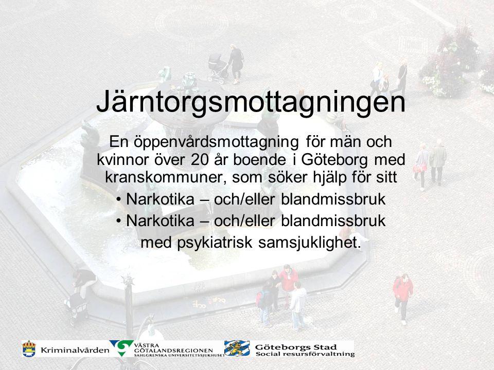 En öppenvårdsmottagning för män och kvinnor över 20 år boende i Göteborg med kranskommuner, som söker hjälp för sitt Narkotika – och/eller blandmissbr