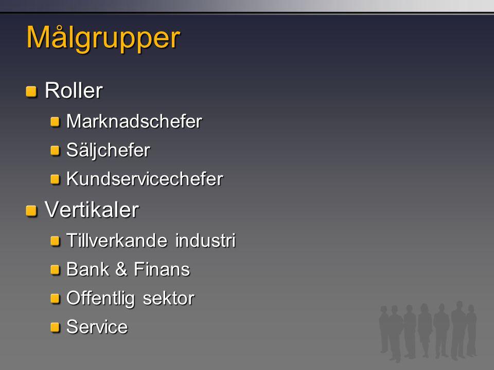 Målgrupper RollerMarknadscheferSäljcheferKundservicecheferVertikaler Tillverkande industri Bank & Finans Offentlig sektor Service