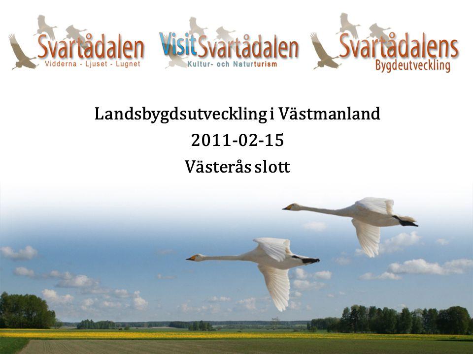 Landsbygdsutveckling i Västmanland 2011-02-15 Västerås slott