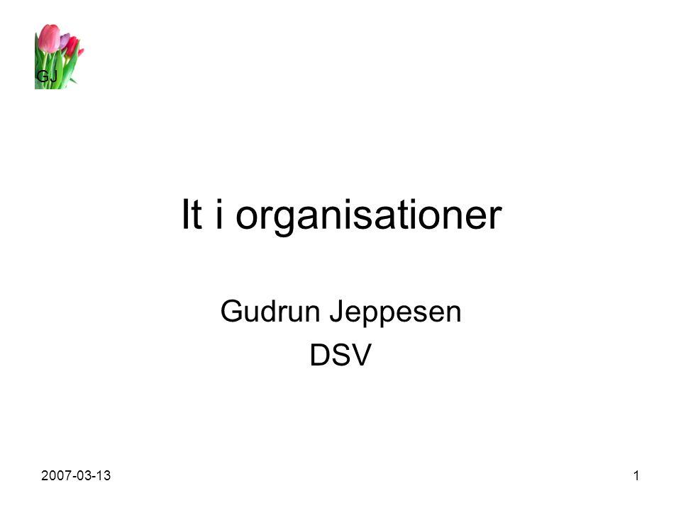 GJ 2007-03-131 It i organisationer Gudrun Jeppesen DSV