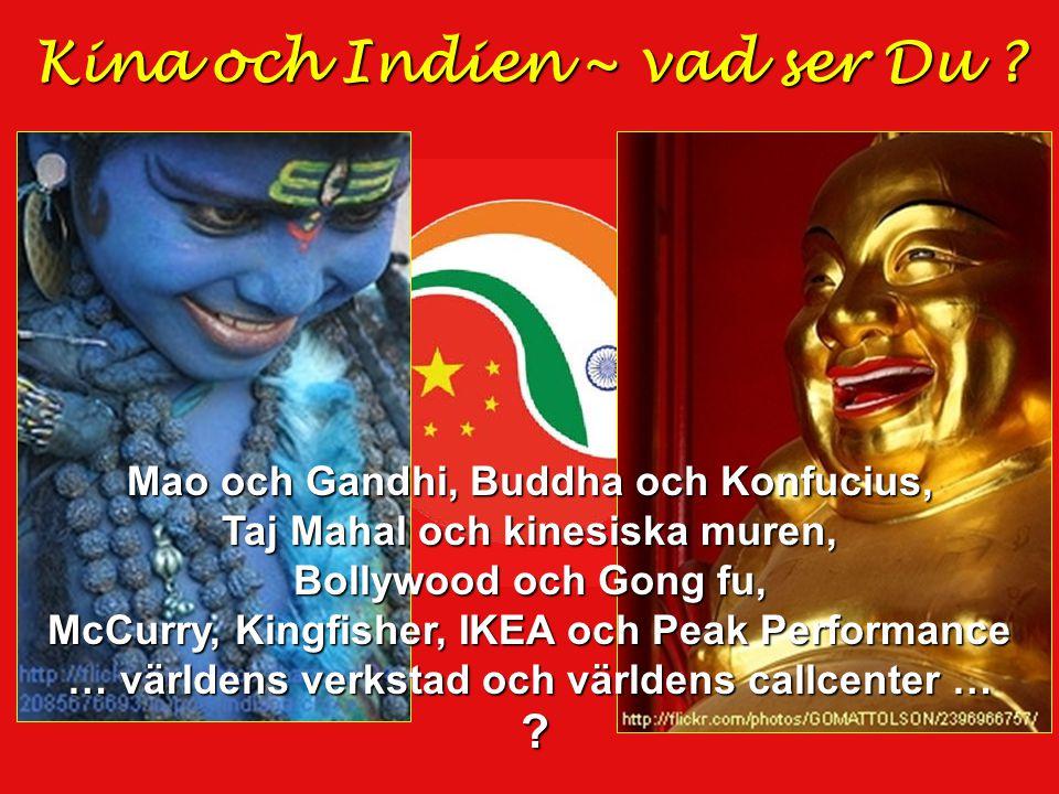 Kina och Indien ~ vad ser Du .