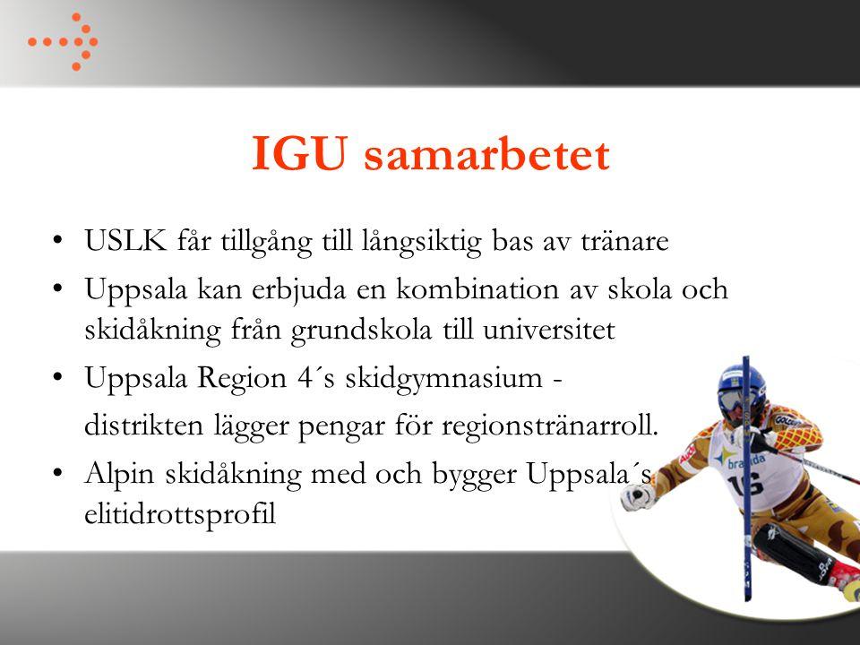IGU samarbetet USLK får tillgång till långsiktig bas av tränare Uppsala kan erbjuda en kombination av skola och skidåkning från grundskola till univer