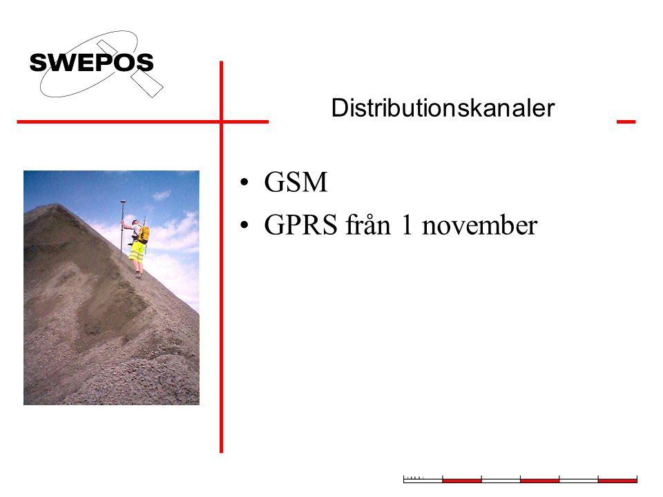 GSM GPRS från 1 november Distributionskanaler