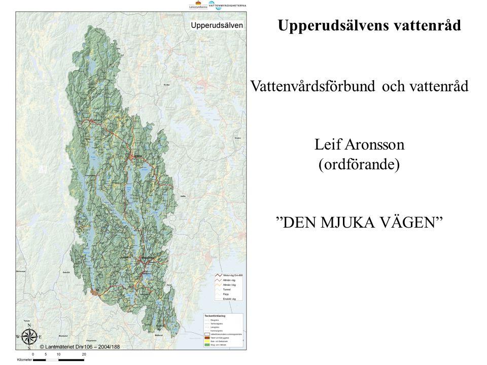 """Upperudsälvens vattenråd Vattenvårdsförbund och vattenråd Leif Aronsson (ordförande) """"DEN MJUKA VÄGEN"""""""