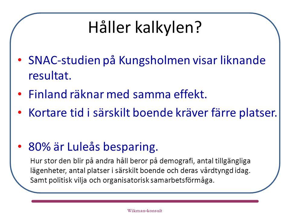 Håller kalkylen. SNAC-studien på Kungsholmen visar liknande resultat.