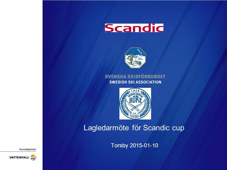 Lagledarmöte för Scandic cup Torsby 2015-01-10