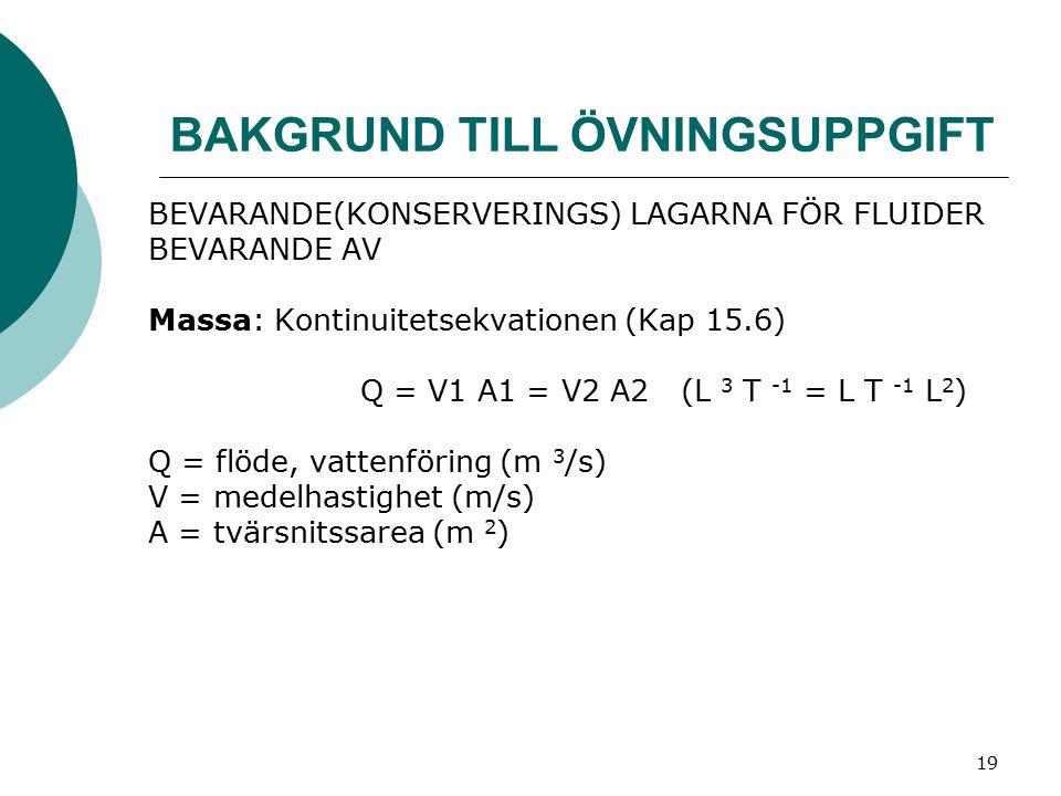 20 Energi: Bernoullis ekvation (Kap 15.7) y = nivå i ett höjdsystem (m) p = tryck (Pa) V = medelhastighet (m/s) ρ = densitet (kg/m 3 )