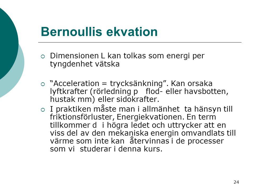 25 Impulssatsen  Tillämpning förutsätter inte kännedom om strömningsmönstret i detalj  Snabb stängning av ventil i ledning: tryckslag, vattenhammare