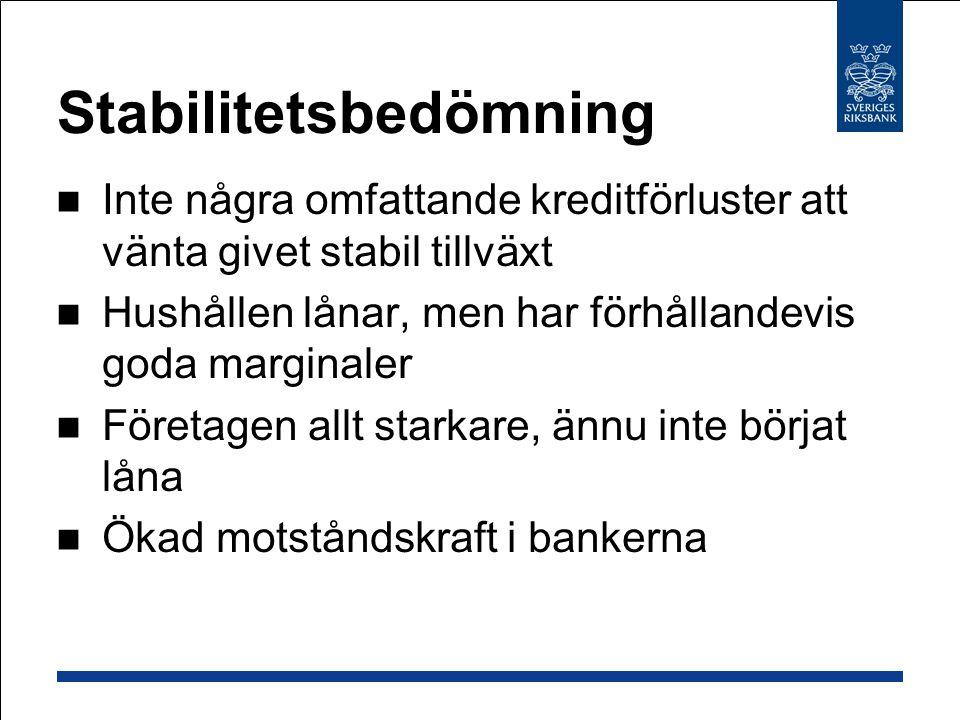 Hushållens skulder och räntebetalningar i förhållande till disponibel inkomst Procent Diagram 2:14 Källor: SCB och Riksbanken.