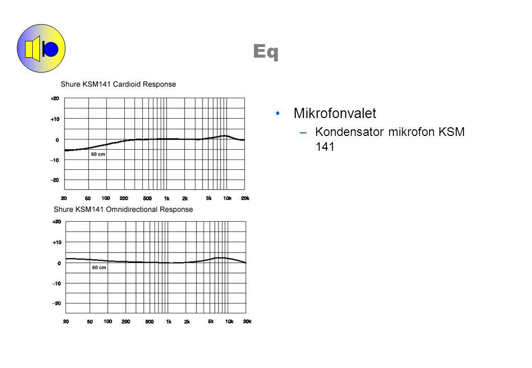 Eq Mikrofonvalet –Kondensator mikrofon KSM 141