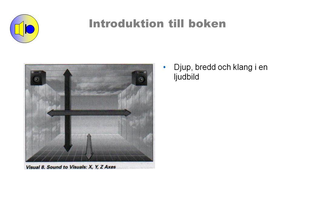 Introduktion till boken Djup, bredd och klang i en ljudbild