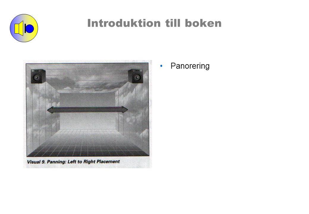 Introduktion till boken Volymen används som ett verktyg att skapa ett djup i ljudbilden