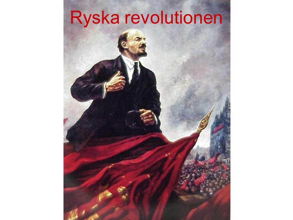 Stora problem Ryssland hade stora problem inom landet pga världskriget.