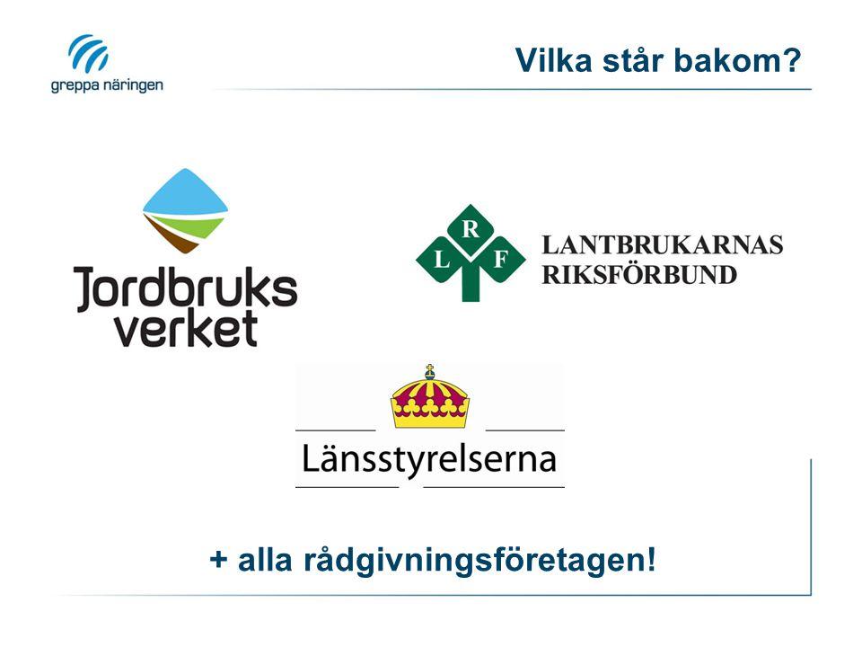 Pengar ›ca 40 miljoner kronor per år ›Finansieringen kommer från: › EU › Svenska staten › Återförda miljöskatter (från lantbrukarna själva)