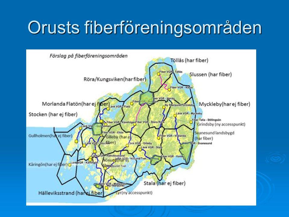 Orusts fiberföreningsområden