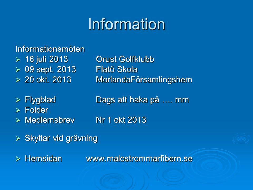 Information Informationsmöten  16 juli 2013 Orust Golfklubb  09 sept. 2013 Flatö Skola  20 okt. 2013 MorlandaFörsamlingshem  Flygblad Dags att hak