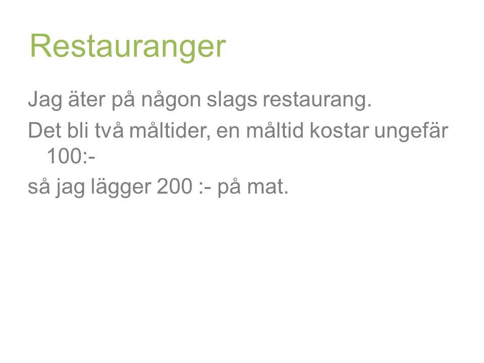 Restauranger Jag äter på någon slags restaurang.