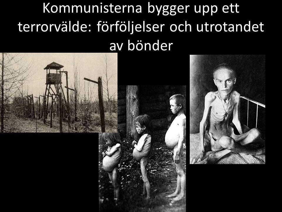 Kommunisterna bygger upp ett terrorvälde: förföljelser och utrotandet av bönder