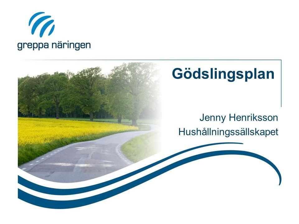 Gödslingsplan Jenny Henriksson Hushållningssällskapet