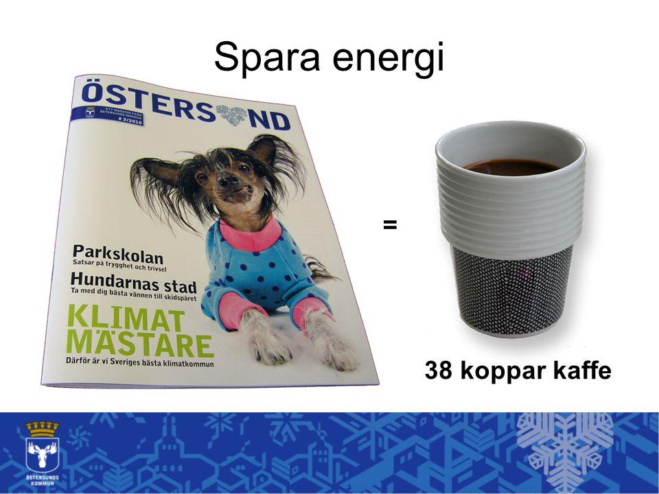 Spara energi = 38 koppar kaffe