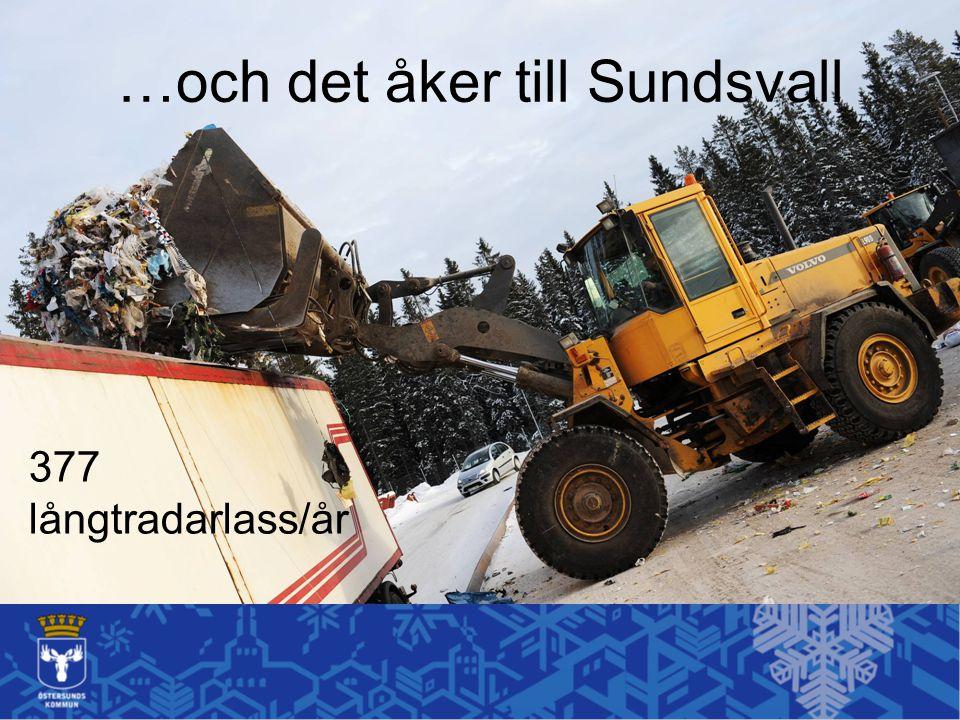…och det åker till Sundsvall 377 långtradarlass/år