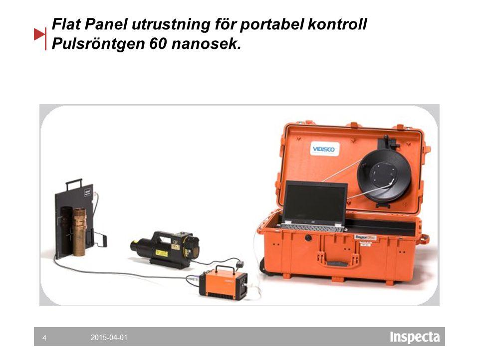 4 Flat Panel utrustning för portabel kontroll Pulsröntgen 60 nanosek.