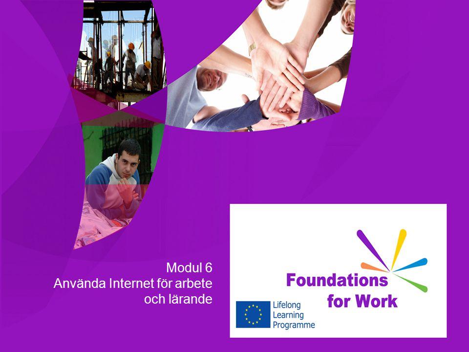 Modul 6 Använda Internet för arbete och lärande