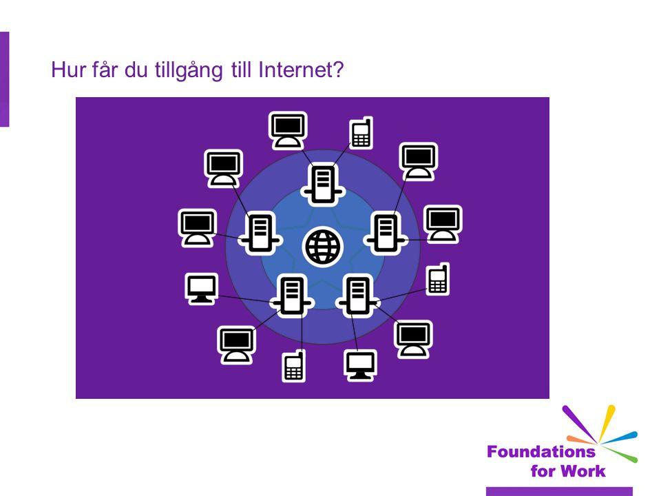 Inlärningsmål  6.1 Identifiera metoder för att få åtkomst till Internet.