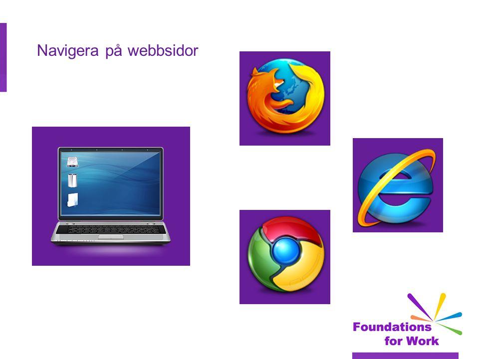 Navigera på webbsidor