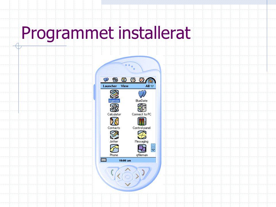 Programmet installerat