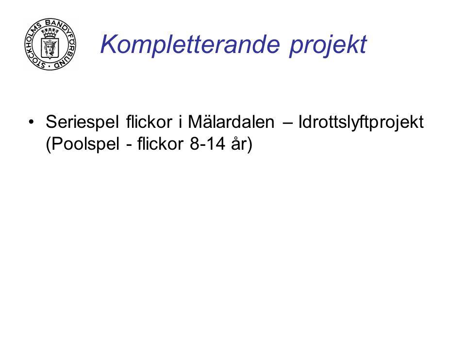 Kompletterande projekt Seriespel flickor i Mälardalen – Idrottslyftprojekt (Poolspel - flickor 8-14 år)