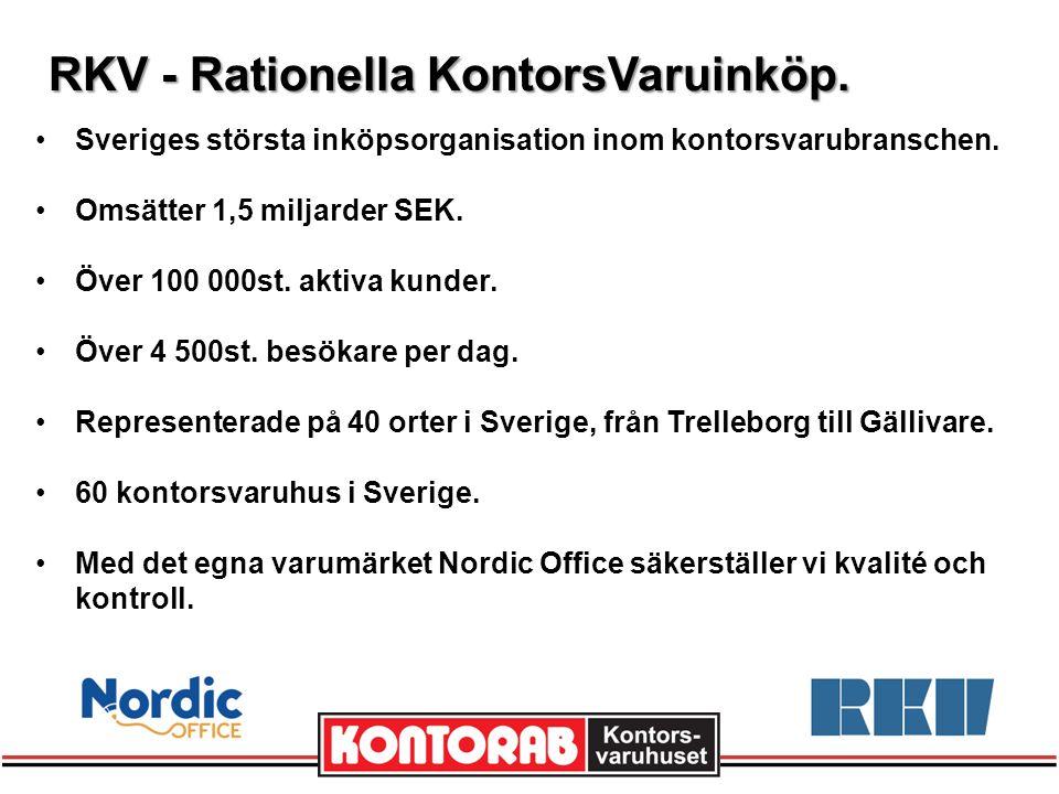 RKV - Rationella KontorsVaruinköp. Sveriges största inköpsorganisation inom kontorsvarubranschen.