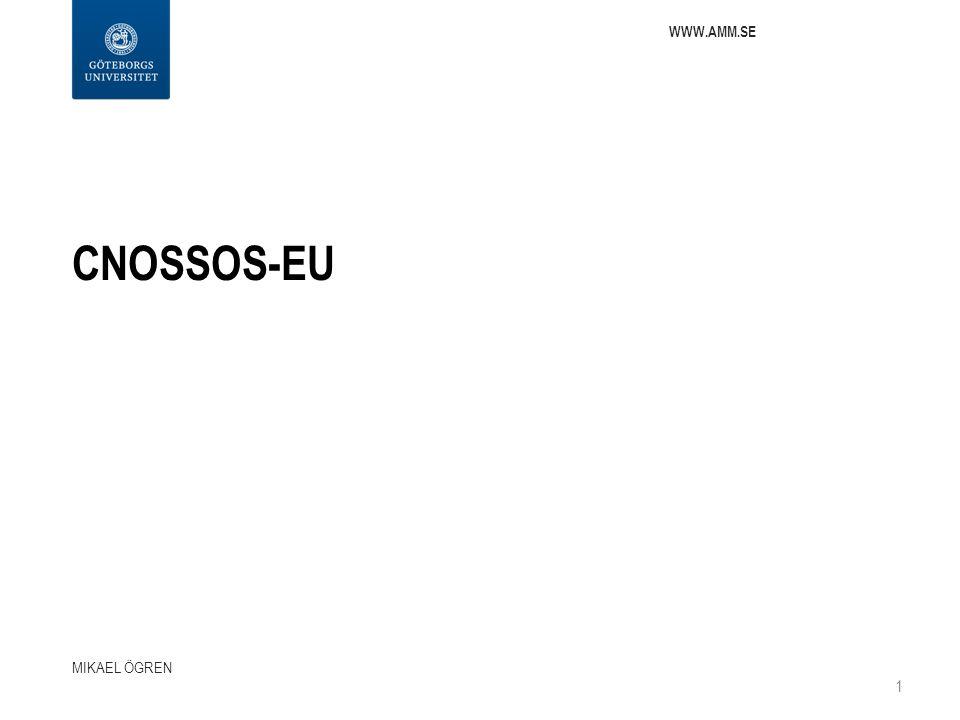 CNOSSOS-EU MIKAEL ÖGREN 1 WWW.AMM.SE